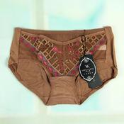歌比图前腰网纱加提花性感莫代尔女士低腰三角内裤1180