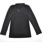 十分V 时尚修身网纱保暖打底衫女士保暖上衣内穿外穿8098