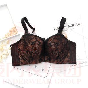六月玫瑰网纱提花可插垫上托透气吸湿薄杯女士C杯文胸57002