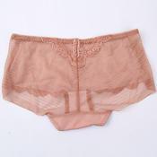 姣莹平角舒适透气一片式薄纱短裤JK5262