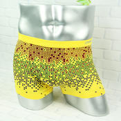 草珊瑚纤维吸汗透气抗菌阳光性感四角裤平角裤5905
