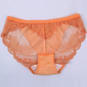 姣莹纯棉舒适透气抗菌中腰女士三角裤 JK5251